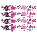 Confetti Pink Celebration 80 év 34g, 3 motívum