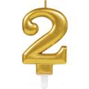 Zahlenkerze 2 Sparkling Celebrations Gold