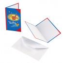 8 Einladungskarten Schulanfang mit Umschlägen