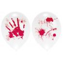 4 globos Ballominate Halloween con sangre 27.5 cm