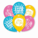 wholesale Food & Beverage: 6 latex balloons' Best Days' 27.5 cm ...