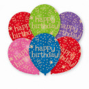 wholesale Food & Beverage: 6 latex balloons ' Happy Birthday - ...