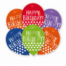 wholesale Food & Beverage: 6 latex balloons' Happy Birthday - ...