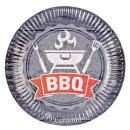 nagyker Ajándékok és papíráruk: 8 Tányér BBQ Party, 23 cm