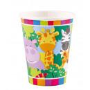 8 cups jungle animals 266 ml