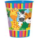 Mug jungle animals plastic 473 ml