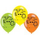 6 latex ballonnen jungle dieren 22,8cm / 9 '