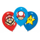 6 latex balloons Super Mario Bros 27.5 cm / 11 &#3