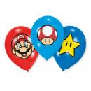 6 latex balloons Super Mario Bros 27.5 cm / 11