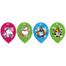 wholesale Gifts & Stationery: 6 balloons 11 'unicorn 4C