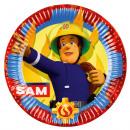 8 plate Fireman Sam 2017, 23 cm