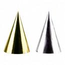 4 Partyhütchen Golden Wishes 17 cm