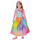 Kindkostuum Barbie Rainbow Magic met roze