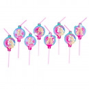 wholesale Licensed Products: 8 drinking straws ' Barbie - Dreamtopia'
