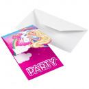 wholesale Greeting cards: 8 Invitations ' Barbie - Dreamtopia', w