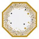 6 platos de forma Deseos de oro 18 cm