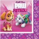 20 Servietten 'Paw Patrol Pink', 33 cm