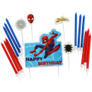 Birthday Candle Set Spider-Man with 17 candles