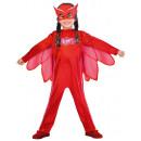 grossiste Jouets: Costume Enfant PJ Masques Eulette 3-4 ans (Bon)