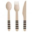 Wood Cutlery Kicker Party 24 Pieces