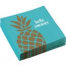 20 Servietten Pineapple Vibes 33x33cm