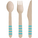 24 wooden cutlery Pineapple vibes