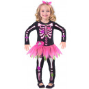 Child Costume Fancy Bones Skeleton 3-4 years