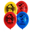6 latex balloons Mickey Mouse 4-sided 27,5cm / 11