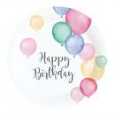 8 Tányér Happy Birthday pecsét 18cm Ø