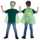 grossiste Vetements enfant et bebe: Ensemble de cape d'enfants PJ Masks Gekko 4-8