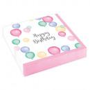 20 szalvéta Happy Birthday Pastel 25x25cm