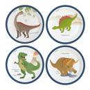8 plate Happy Dinosaur 23cm