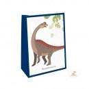 4 papírzacskó matricával Happy Dinosaur