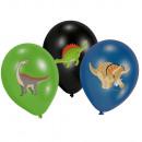6 ballons en latex Joyeux Dinosaur 28cm / 11 '
