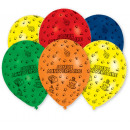 6 latex balloons Joyeux Annive rsaire total print