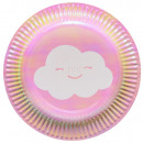 8 plate Rosie Rainbow & Cloud 18cm