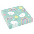 20 Servietten Rainbow & Cloud 33x33cm
