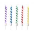 10 születésnapi gyertya Bright Rainbow