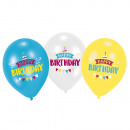6 Latex Balloons My Birthday Party 11 '4C Prin