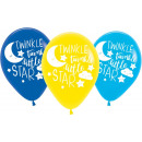 6 Latex Balloon Twinkle Little Star 27.5 cm / 11 &