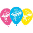 6 latex balloons What Will It Bee? 27.5 cm / 11 &#