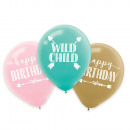 6 latex balloons Boho Birthday Girl 27.5 cm / 11 &