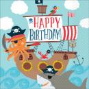 16 Servietten Ahoy Birthday 33 cm