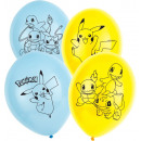 6 latex balloons Pokémon 28cm / 11