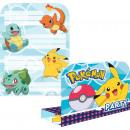 Großhandel Glückwunschkarten: 8 Einladungskarten & Umschläge Pokemon