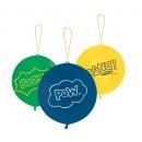 3 Spielballons Boom! Bang! Pow! 40,6 cm/16'