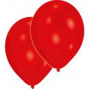 50 Ballons en Latex Métallisé Rouge 27,5cm / 11 &#