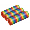 3 Metallic Streamers - Bright Rainbow 7mm x 4