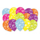 15 globos de latex Globaldruck Happy Birthday 27.5