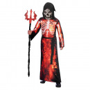 Child Costume Fire Grim Reaper 6-8 years
